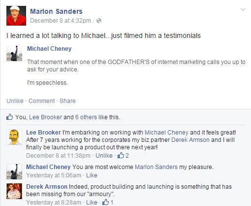 Marlon Sanders Testimonial