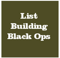 List Building Black Ops